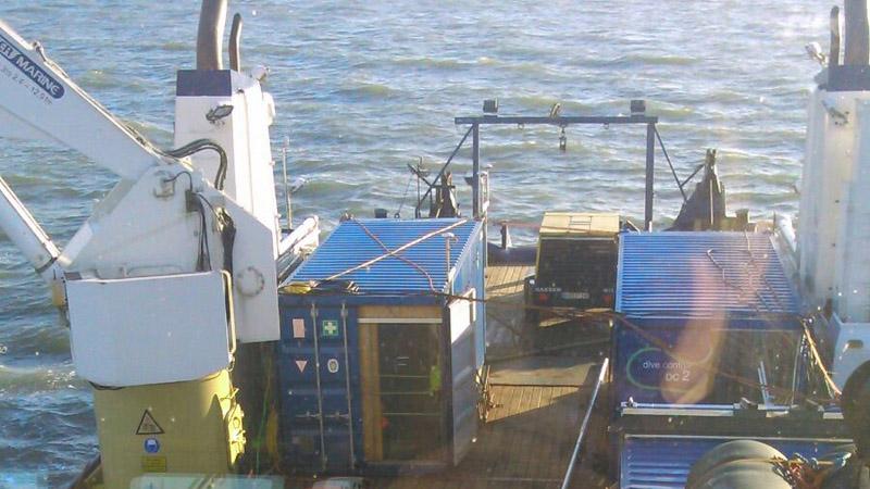 Nordsee Munition Achterdeck