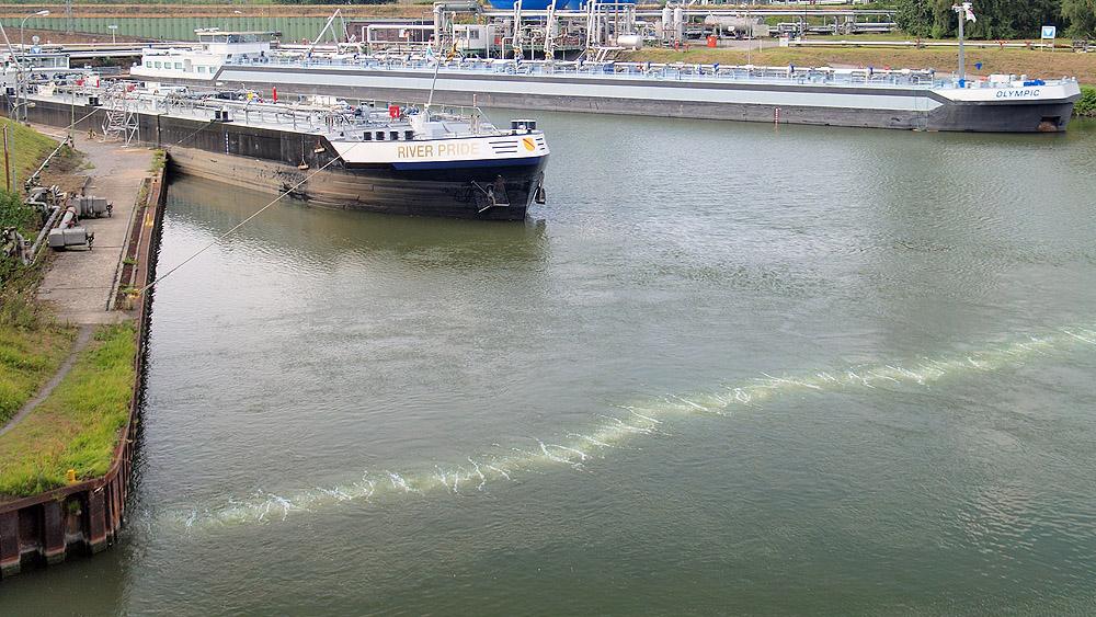Druckluftsperre Gelsenkirchen Hafenbecken
