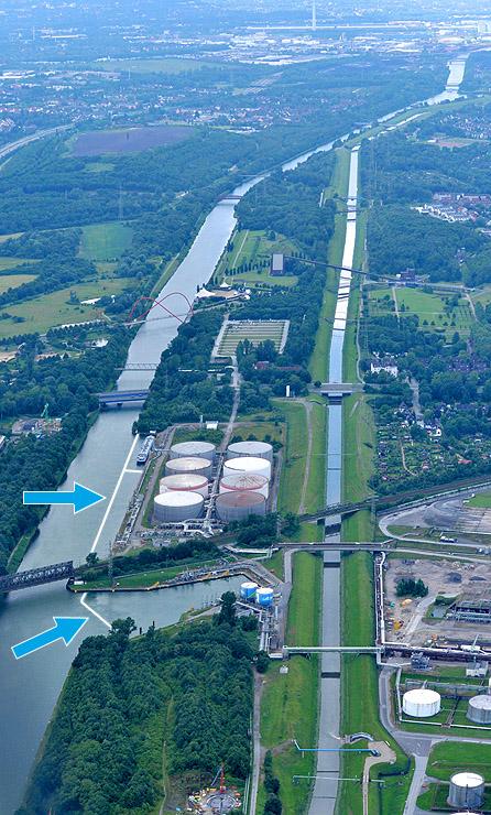 Druckluftsperre Gelsenkirchen Luftbild