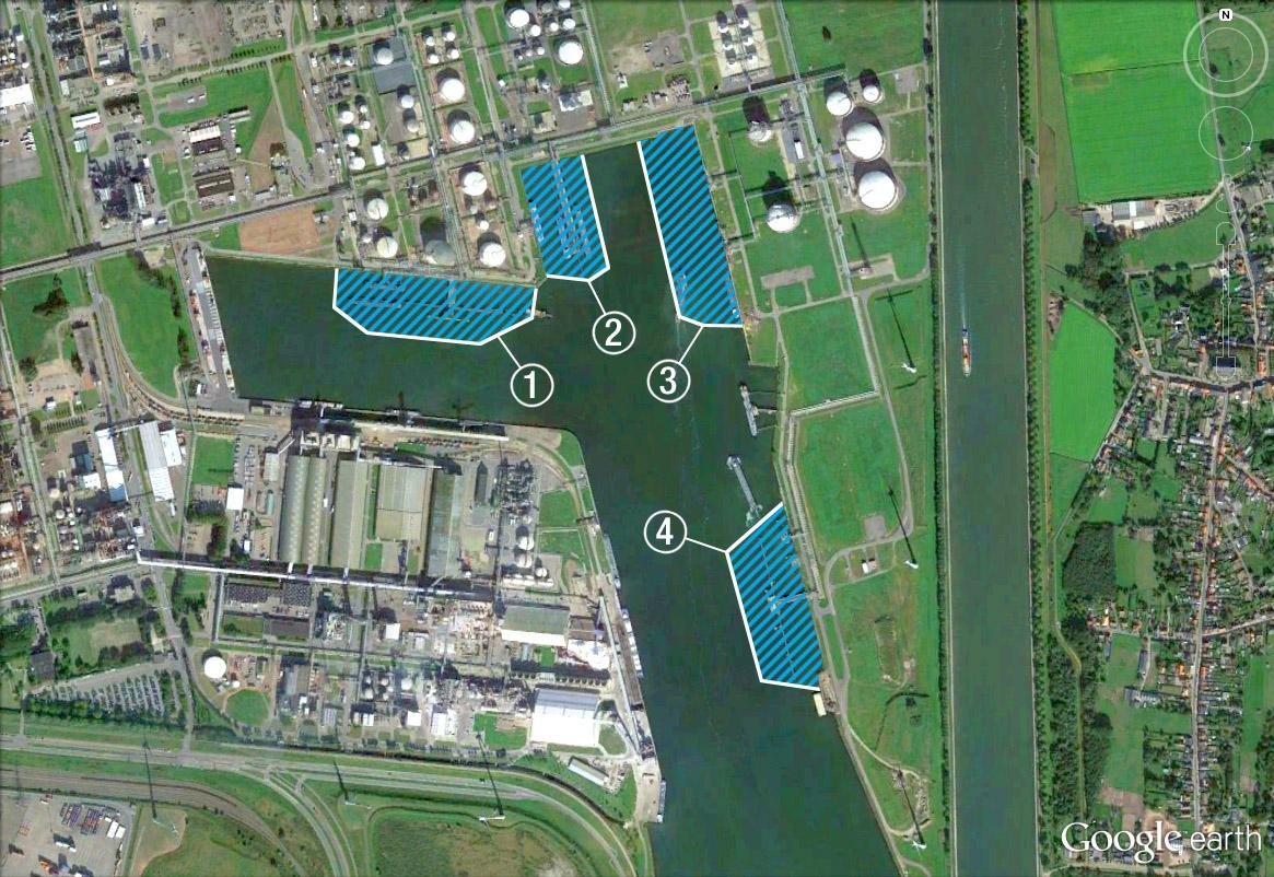Druckluftsperren BASF Antwerpen 4 Sperren