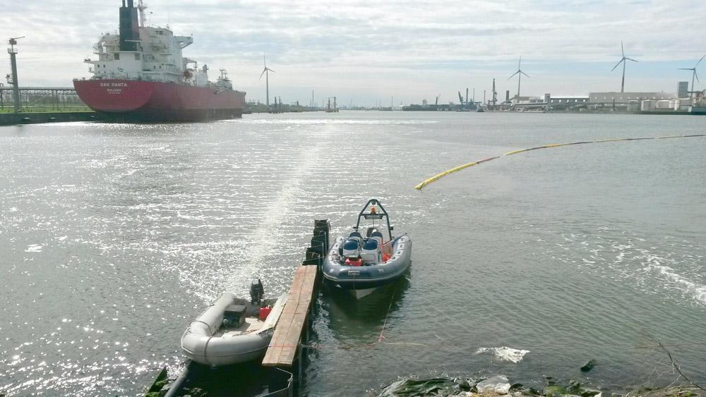 Druckluftsperren BASF Antwerpen Tauchteam