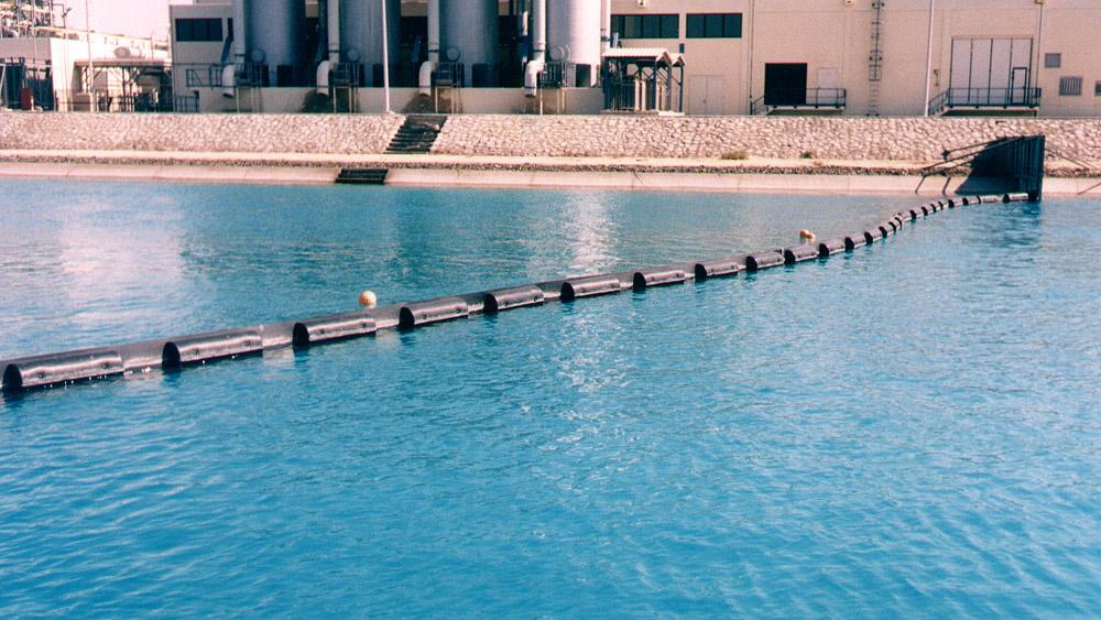 Schwimmende Ölsperre