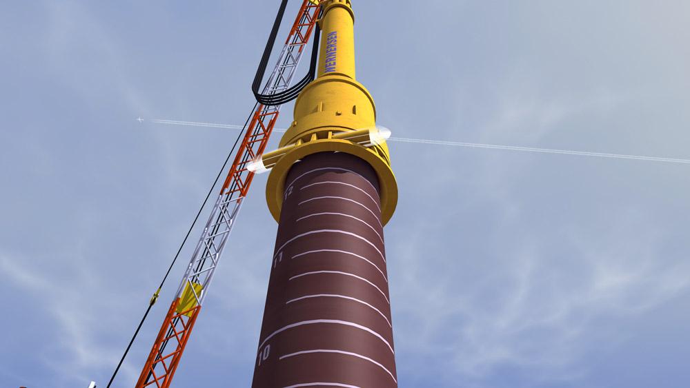 Noise Mitigation System Offshore Pile Driver
