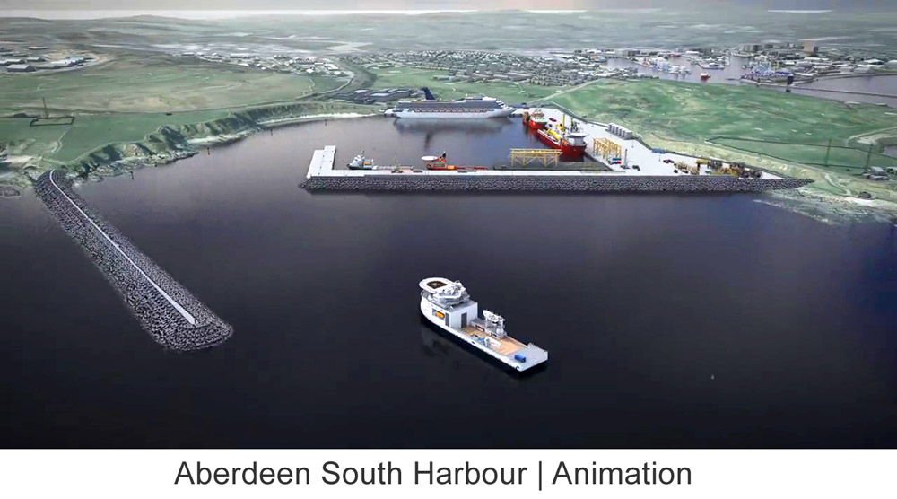 Aberdeen South Harbour animation