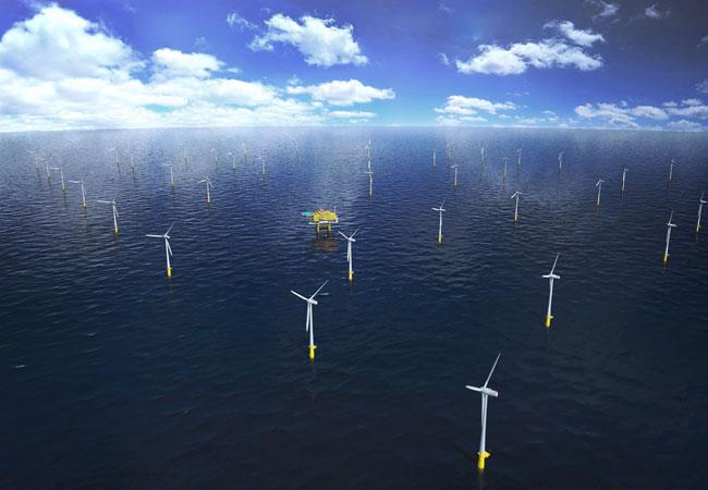 Fundament-Installation Windpark Hohe See