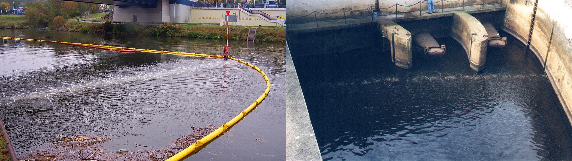 Compressed air flotsam barrier
