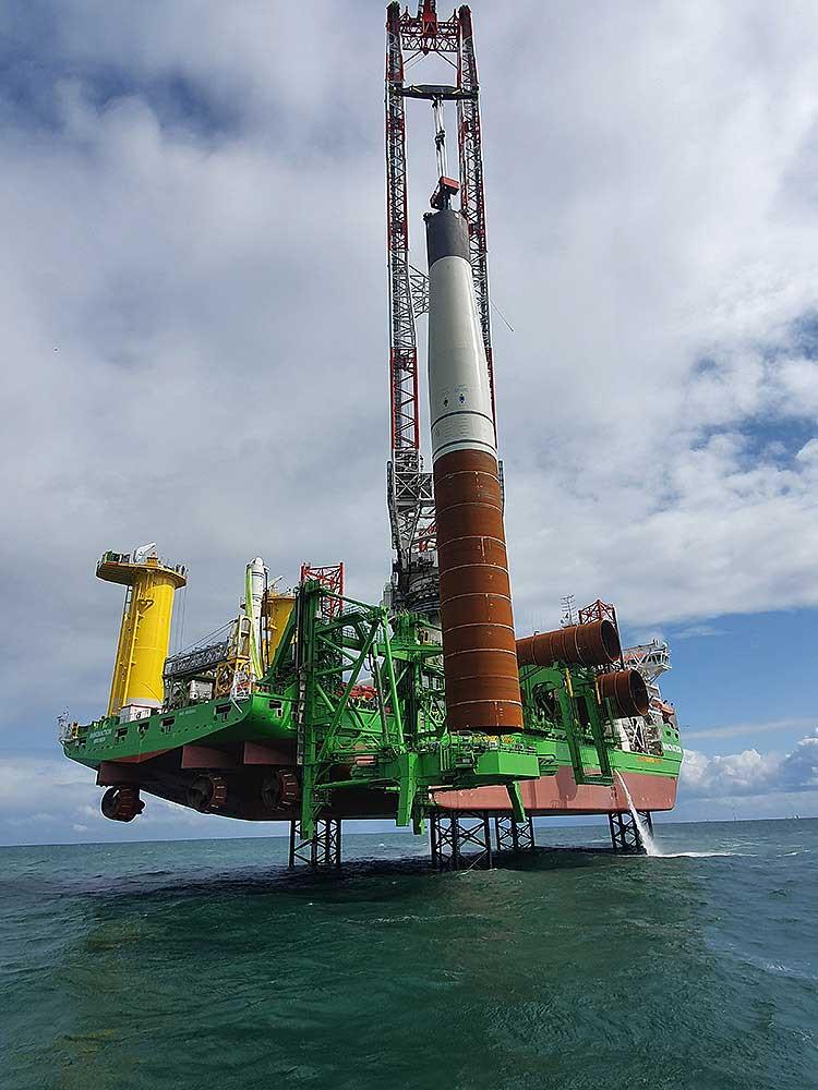Offshore Windpark SeaMade Gründung